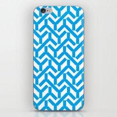 Cyan Geometry Pattern iPhone & iPod Skin