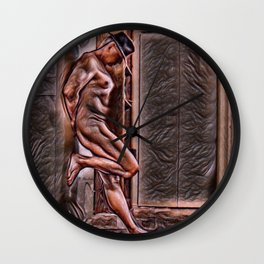 Leather Hat Wall Clock