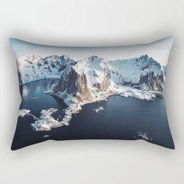 lofoten skyline Rectangular Pillow