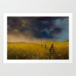 Rolling Thunder Pastel Art Print Art Print