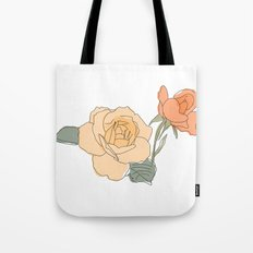 Handdrawn Roses Tote Bag