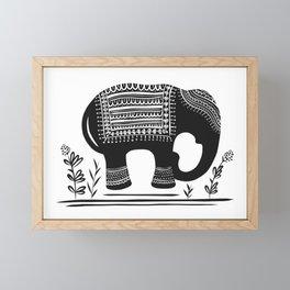Lucky Elephant Framed Mini Art Print