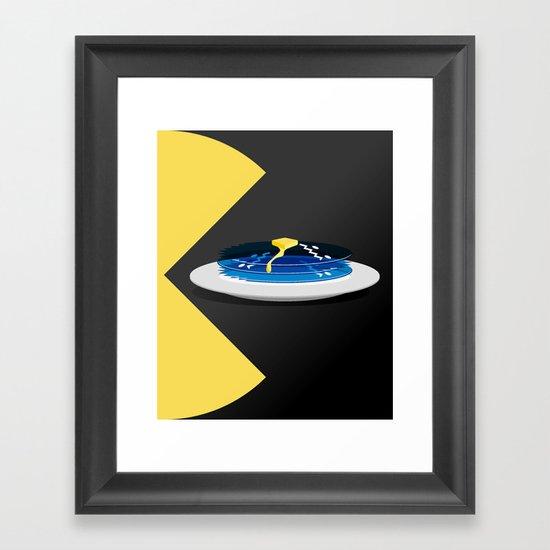 Pac-Cakes Framed Art Print