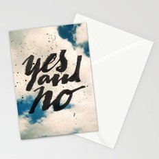Yes and No Stationery Cards