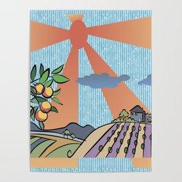 Autumn harvest illustration 2 Poster