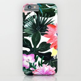 Lush Tropical Floral iPhone Case