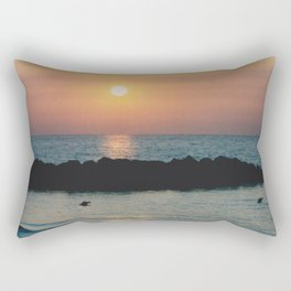 Sunset Ocean Bliss #1 #nature #art #society6 Rectangular Pillow