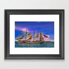 US Coast Guard Eagle.  Framed Art Print