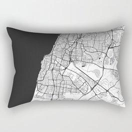 Tel Aviv Map Gray Rectangular Pillow