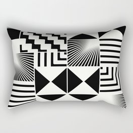 Mosaic Black And White Pattern Rectangular Pillow