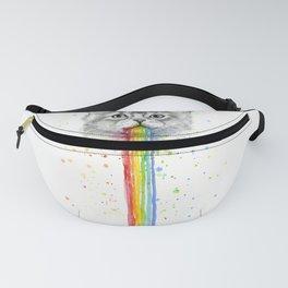 Kitten Puking Rainbows Cat Rainbow Vomit Fanny Pack