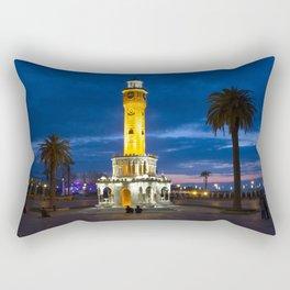 Clock tower. Rectangular Pillow