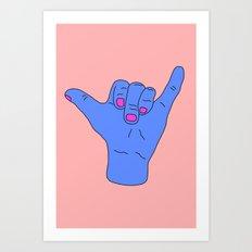 Hang Loose Bra Art Print