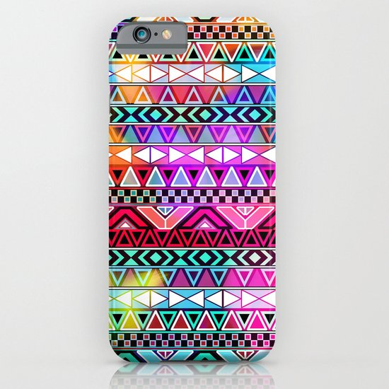 Neon Aztec | Purple Pink Neon Bright Andes Abstract Pattern iPhone & iPod Case