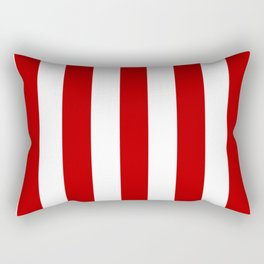UE red - solid color - white vertical lines pattern Rectangular Pillow