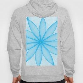 BLUE FLOWER PEDALS Abstract Art Hoody