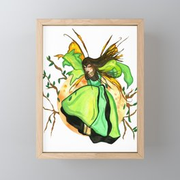Jumping Fairy Framed Mini Art Print