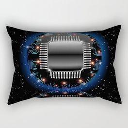 Electronic Motherboard Circuit Sphere Globe Rectangular Pillow