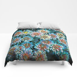 Van Gogh Blue Chrysanthemum Comforters