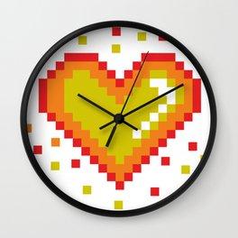 Pixel Heart Pattern #society6 #decor #buyart #artprint Wall Clock