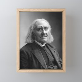 Composer Franz Liszt Portrait - 1886 Framed Mini Art Print