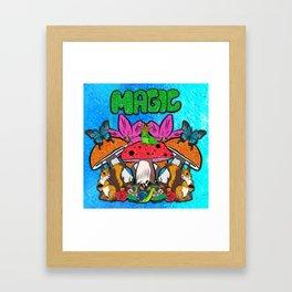 Magical Garden Creatures Framed Art Print