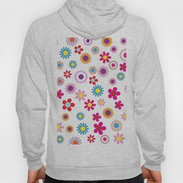 Floral Flowers Background Hoody