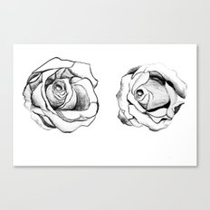 Two Roses for my Friends Canvas Print