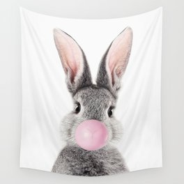 Bunny With Bubble Gum Wall Tapestry