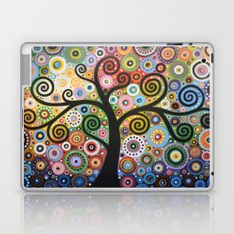 Abstract Art Landscape Original Painting ... She Dreams In Color Laptop & iPad Skin