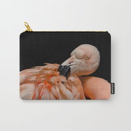 Sleepy Flamingo Carry-All Pouch