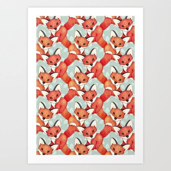 Fox Lattice  Art Print