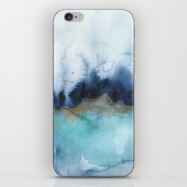 Mystic abstract watercolor iPhone Skin
