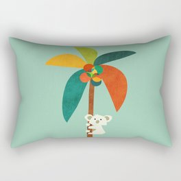 Koala on Coconut Tree Rectangular Pillow
