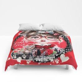 Cat Crazy Chloe - MunchkinZ Elf - Sheena Pike Art & Illustration Comforters