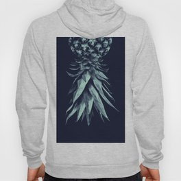 Navy Blue Pineapple Upside Down #1 #tropical #fruit #decor #art #society6 Hoody