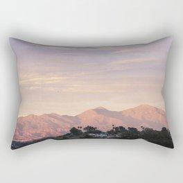 Sunset over Saddleback Mountain Rectangular Pillow