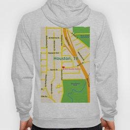 Map of Houston TX #2 Hoody