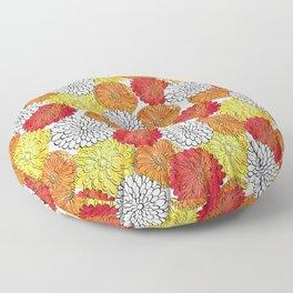 Dahlia Garden Summer Floor Pillow