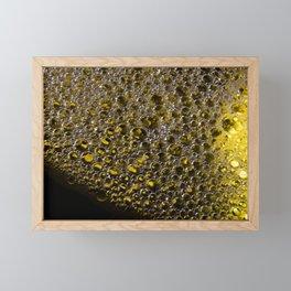 Enlightened Colony   Abstract Macro Photography   Yellow Framed Mini Art Print