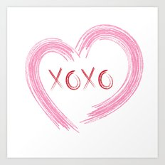 XOXO Heart Art Print