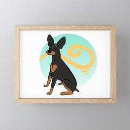 Black&Tan MinPin Framed Mini Art Print