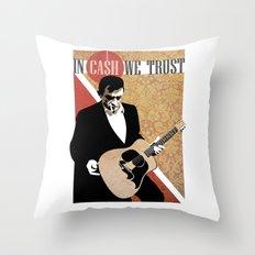iN CA$H WE TRUST Throw Pillow
