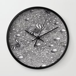 Flowers and stones Wall Clock