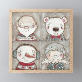 Big Happy Face for Christmas Framed Mini Art Print