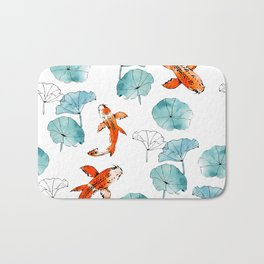 Waterlily koi Bath Mat