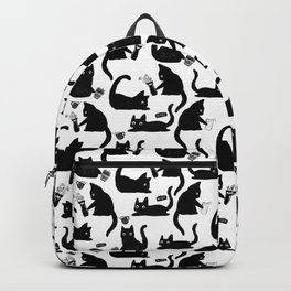 Bad Cats Knocking Stuff Over Backpack