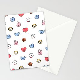 BT21 Sketched Pattern Stationery Cards