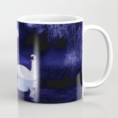 Swan lake at midnight Mug