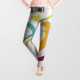 Mid Century Modern Art Leggings